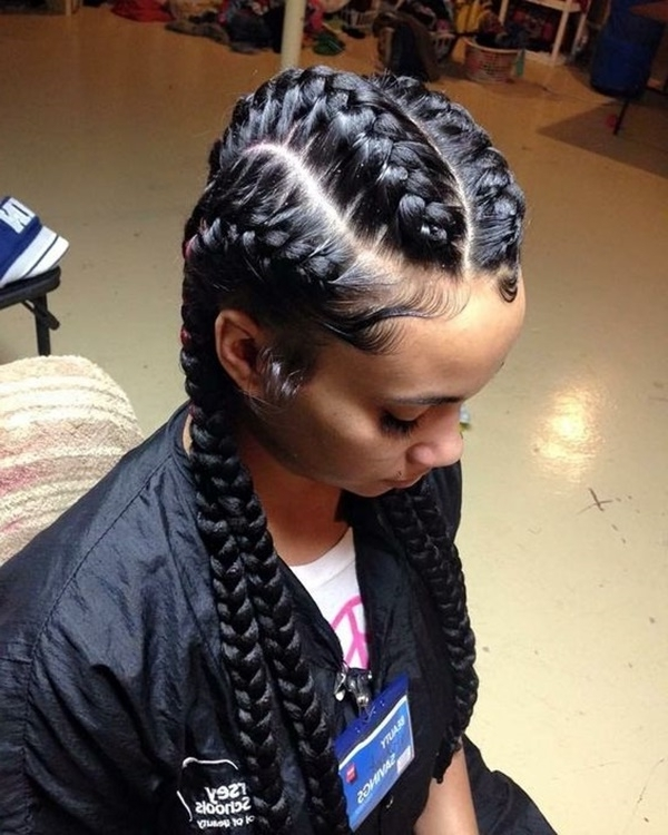 125 Popular Feeder Braids – Reachel In 2018 Braided Hairstyle With Jumbo French Braid (View 14 of 15)