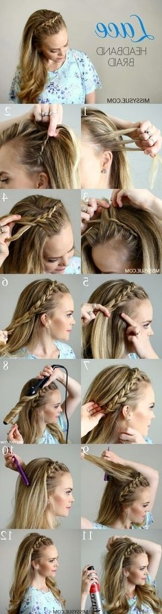 1292 Best Finishing School Images On Pinterest | Coiffure Facile Pertaining To Latest Pair Of Braids With Wrapped Ponytail (View 11 of 15)