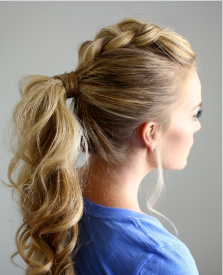 13 Cutest Ponytail Ideas Pertaining To Recent Lattice Weave With High Braided Ponytail (View 2 of 15)