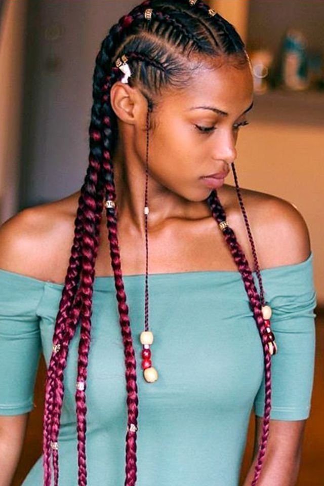 13 Hairstyles With Beads That Are Absolutely Breathtaking | Afro In 2018 Classic Fulani Braids With Massive Ivory Beads (View 1 of 15)