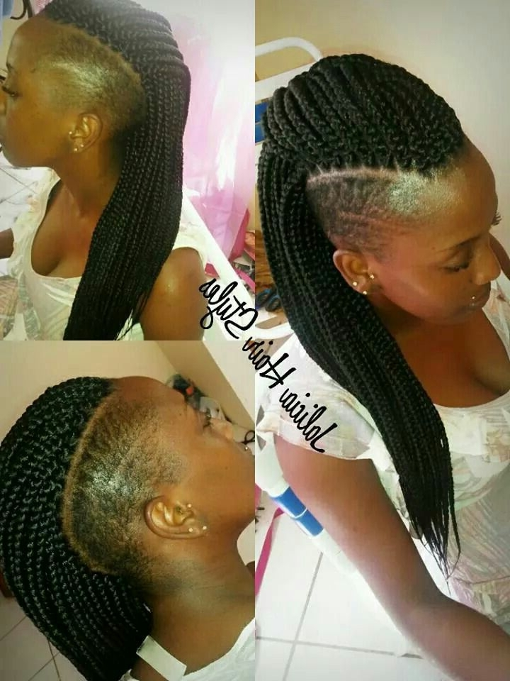138 Best Images About Short Chic Hair Cuts And Shaved Easy Of Box Regarding Most Recent Box Braids And Cornrows Mohawk Hairstyles (View 13 of 15)