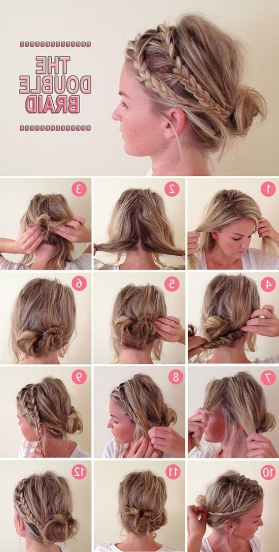 Featured Photo of Twin Braid Updo Hairstyles