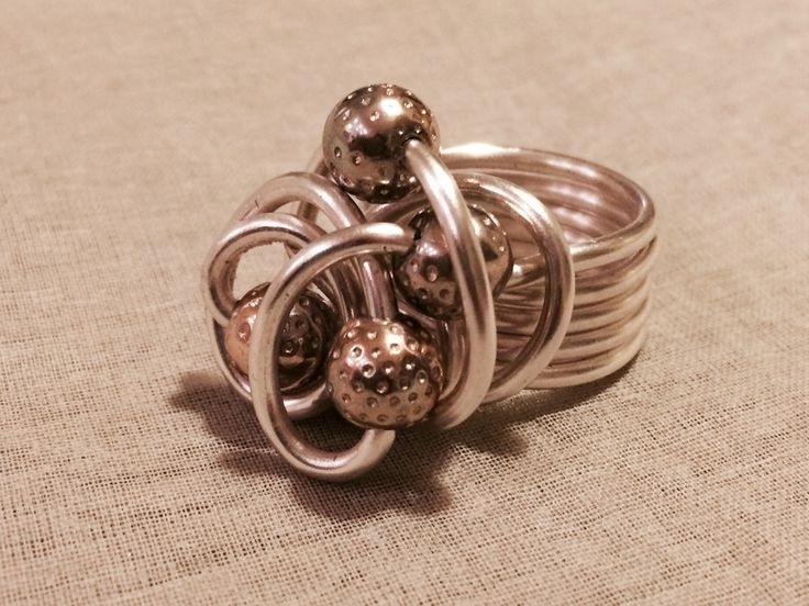 14 Best Wire Wrap Rings Images On Pinterest | Money, Silver And Wire With Regard To 2018 Ponytail Wrapped In Copper Wire And Beads (View 2 of 15)