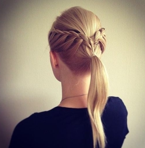 14 Braided Ponytail Hairstyles: New Ways To Style A Braid – Popular Throughout Most Recently Blonde Pony With Double Braids (View 10 of 15)