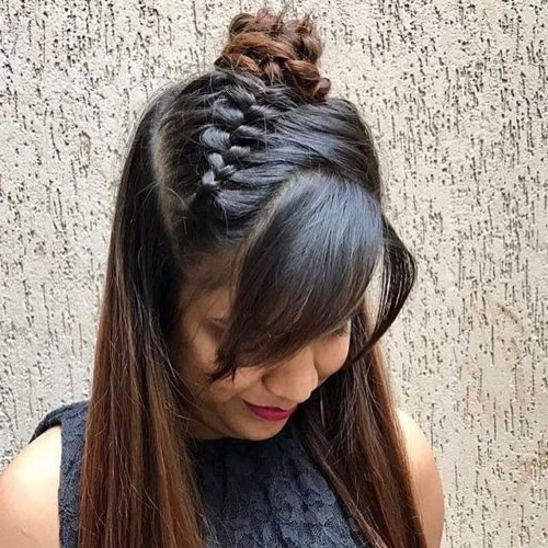 14 Cutest Indian Braid Hairstyles You Will Absolutely Adore Pertaining To Latest Diagonal French Braid Hairstyles (View 12 of 15)