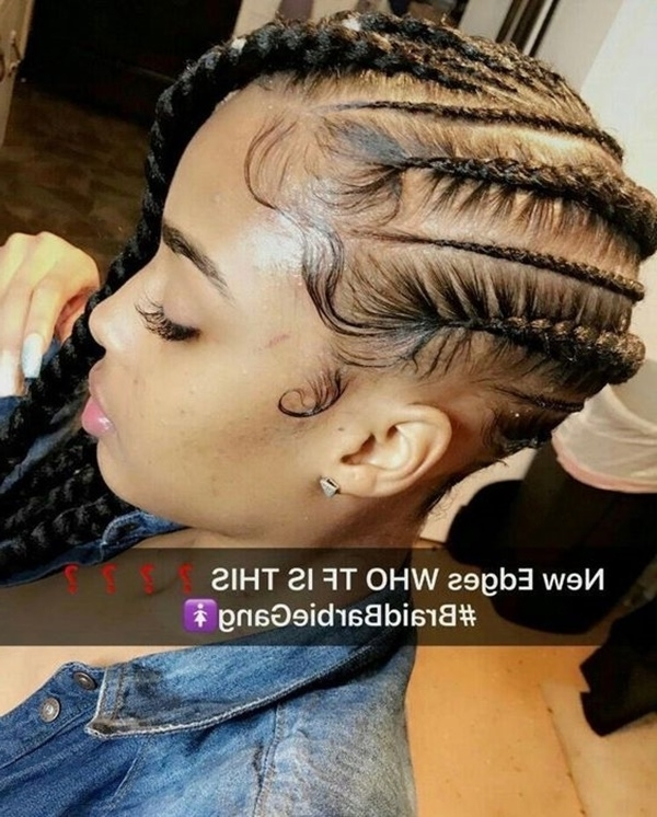 145 Best Cornrow Braids Hairstyles – Reachel Inside Most Current Cornrows Hairstyles That Cover Forehead (View 2 of 15)