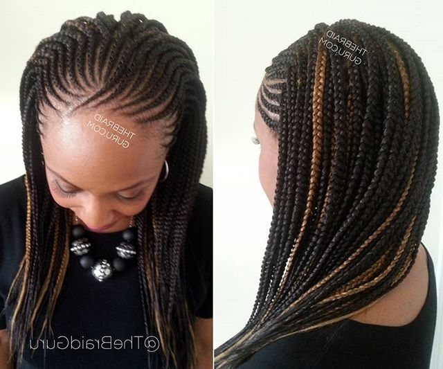 148 Best Hair Images On Pinterest | African Hairstyles, Black Girls For Current Half Cornrows Half Individual Braids (View 4 of 15)