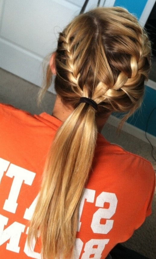15 Adorable French Braid Ponytails For Long Hair – Popular Haircuts Intended For Recent Two Braids Into One Braided Ponytail (View 4 of 15)