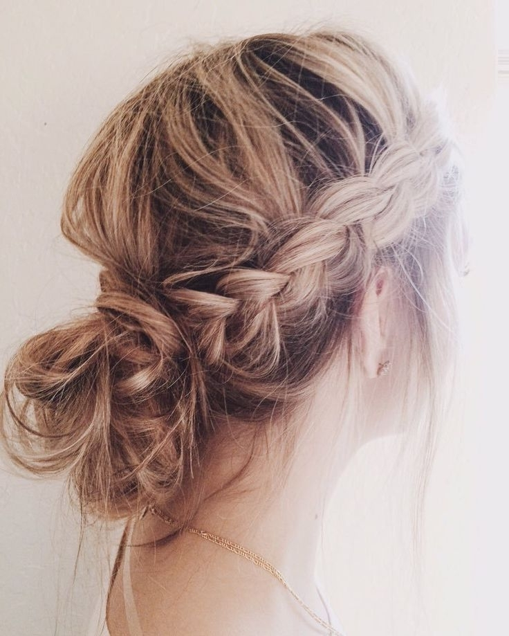 15 Amazing Ways To Upgrade Your Messy Bun This Summer – Bun & Braids In Most Up To Date Messy Bun Braided Hairstyles (View 11 of 15)