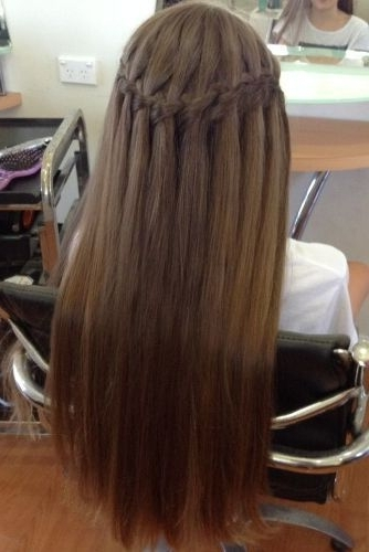 15 Best Waterfall Braid Hairstyles With Pictures | Makeup•hair•n Intended For Recent Braided Hairstyles For Straight Hair (View 13 of 15)
