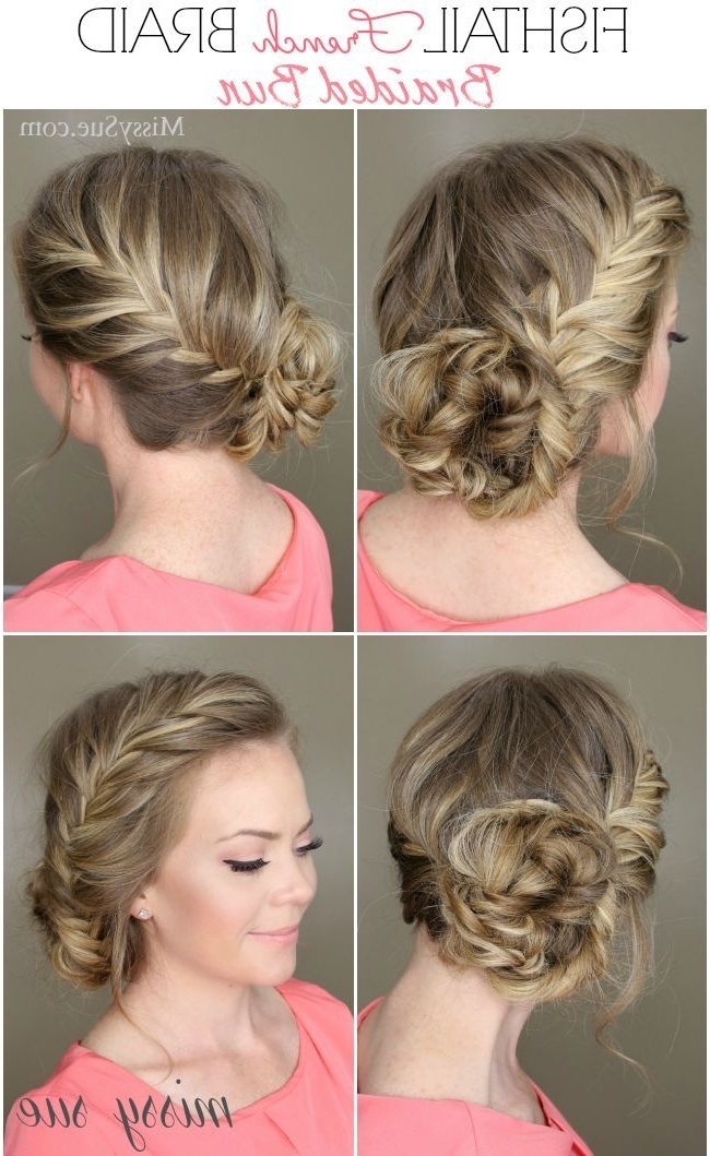 15 Braided Bun Hair Tutorials For Diy Projects – Pretty Designs Inside Recent French Braid Crown And Bun Updo (View 11 of 15)