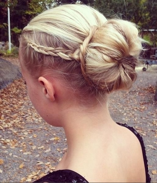 Featured Photo of Formal Braided Bun Updo Hairstyles