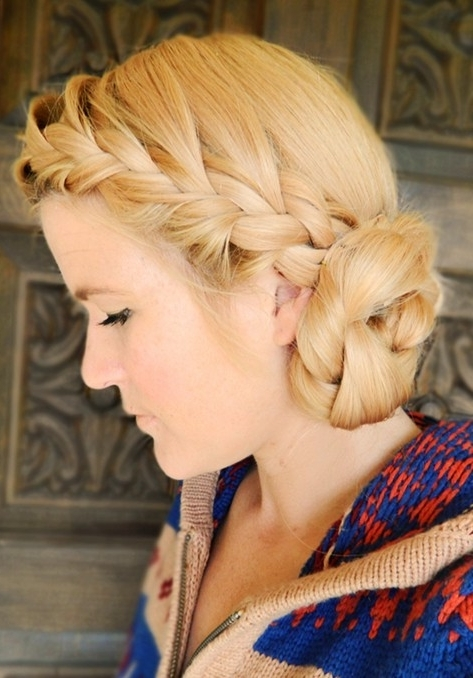 15 Braided Updo Hairstyles Tutorials – Pretty Designs Inside Best And Newest Double Braids Updo Hairstyles (View 12 of 15)