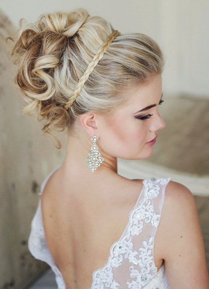 15 Braided Wedding Hairstyles That Will Inspire (With Tutorial Throughout Current Braided Updo Hairstyles For Weddings (View 6 of 15)