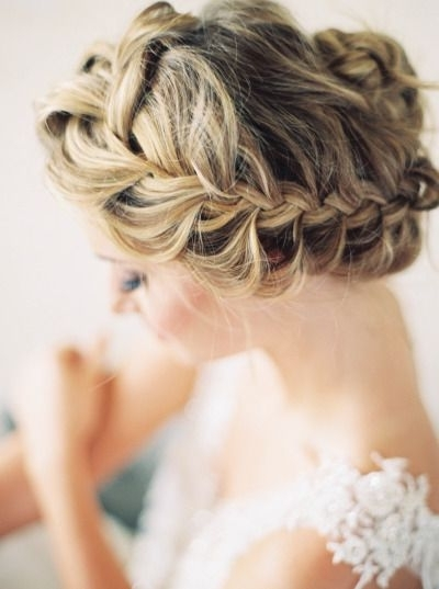 15 Braided Wedding Hairstyles That Will Inspire (With Tutorial With Regard To Most Popular Braided Updo Hairstyles For Weddings (View 3 of 15)