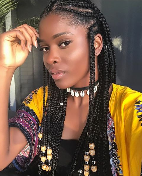 15 'braids With Beads' Hairstyles Worth Rocking This Summer In Most Recently Cornrows Hairstyles With Beads (View 14 of 15)