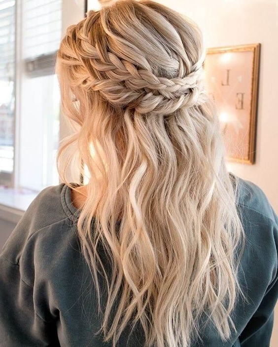 15 Coolest Christmas Braids And Braided Hairstyles – Styleoholic Pertaining To Most Popular Messy Double Braid Hairstyles (View 2 of 15)