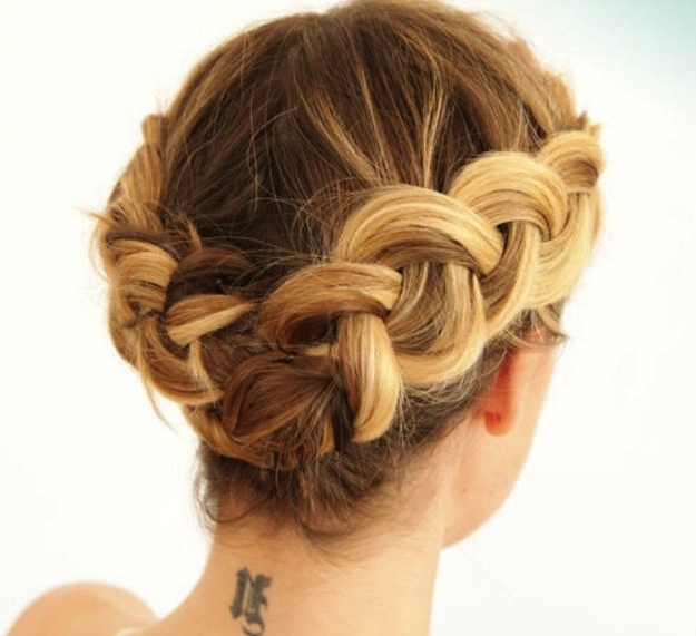 15 Gorgeous Homecoming Hairstyles For Short Hair | Makeup Tutorials Within Recent Braided Updo Hairstyles For Short Hair (View 13 of 15)