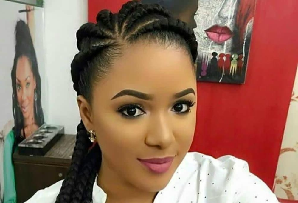 15 Simple Cornrow Hairstyles You Just Need To Try Regarding Most Popular Cornrows Hairstyles That Cover Forehead (View 4 of 15)