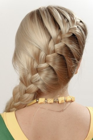 15 Simple French Braid Ponytails For Little Girls – Thewolfian Within Current Simple French Braids For Long Hair (View 15 of 15)