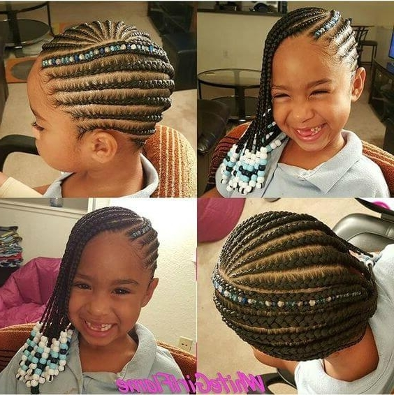 15 Very Cute Cornrow Hairstyles For Your Baby Girl Regarding Most Recently Cornrows Hairstyles For Little Girl (View 9 of 15)