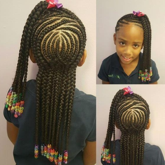 15 Very Cute Cornrow Hairstyles For Your Baby Girl With Regard To Most Up To Date Cornrows Hairstyles For Kids (View 11 of 15)