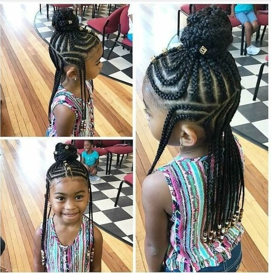 15 Very Cute Cornrow Hairstyles For Your Baby Girl Within Most Up To Date Cornrows Hairstyles For Little Girl (View 4 of 15)