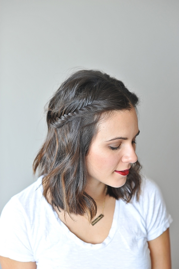 16 Easy And Cute Braided Hairstyles For Short Hair – Gurl | Gurl For Recent Braided Hairstyles On Short Hair (View 8 of 15)