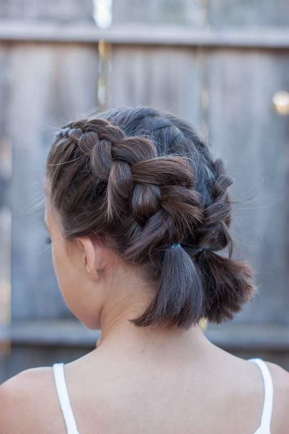 16 Easy And Cute Braided Hairstyles For Short Hair | Hair Regarding Recent Braided Lob Hairstyles (View 4 of 15)