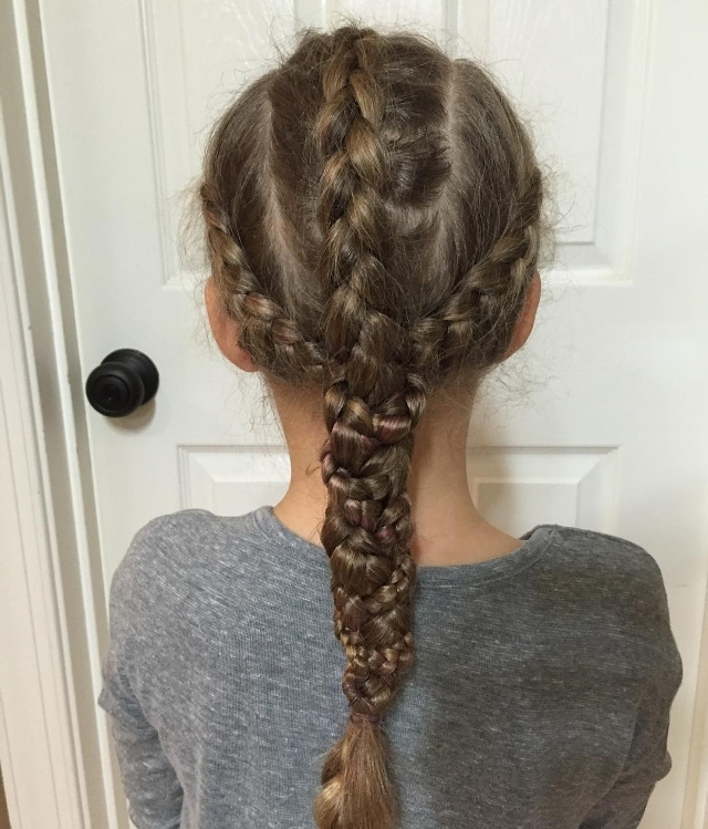 17+ Braid Hairstyle Haircut Ideas, Designs | Hairstyles | Design Intended For Most Popular Triple The Braids Hairstyles (View 4 of 15)