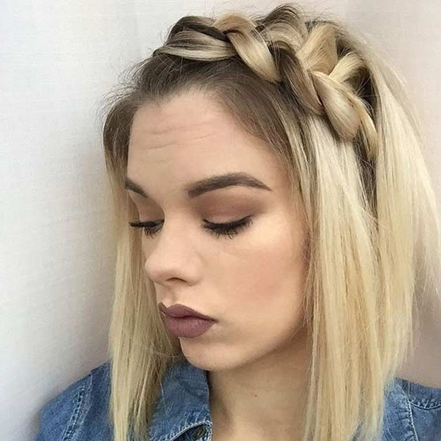 17 Chic Braided Hairstyles For Medium Length Hair | Stayglam Pertaining To Most Recently Side Braid Hairstyles For Medium Hair (View 9 of 15)