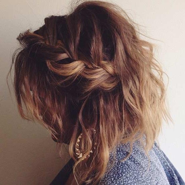 17 Chic Braided Hairstyles For Medium Length Hair | Stayglam Within Recent Braided Hairstyles For Layered Hair (View 12 of 15)