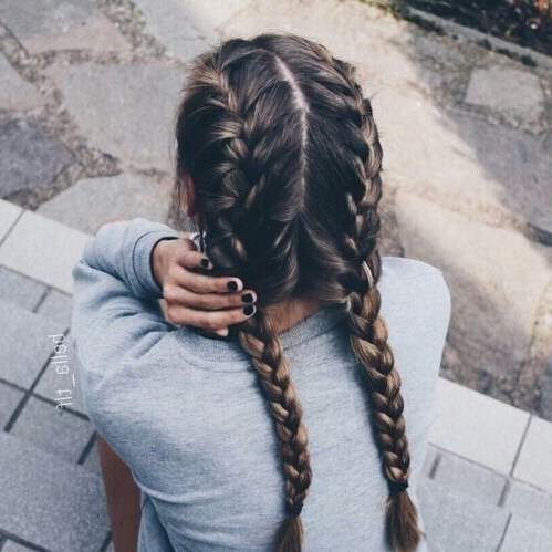 17 Chic Double Braided Hairstyles You Will Love | Styles Weekly In Most Current Double French Braid Crown Hairstyles (View 13 of 15)
