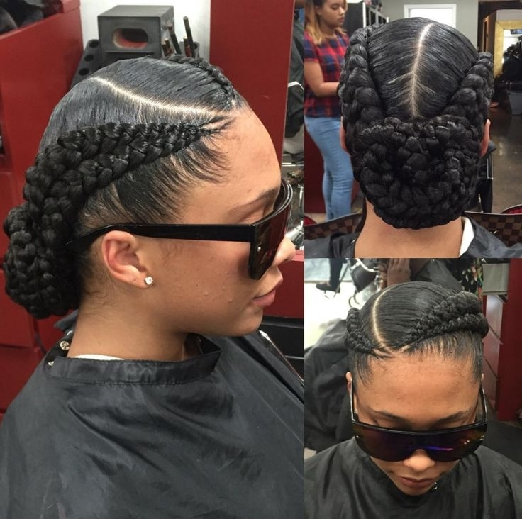 18 Best Cornrow Styles Images On Pinterest Black Hair Braided Bun Pertaining To Most Recently Black Braided Bun Hairstyles (View 8 of 15)