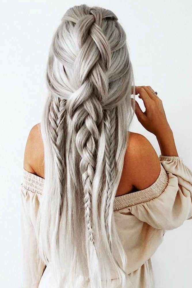 18 Chic Hair Styles For Long Hair | Wedding | Pinterest | Hair Style With Regard To Newest Braid Hairstyles For Long Hair (View 10 of 15)