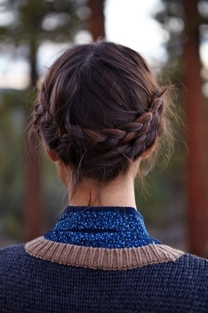 18 Cute And Comfortable Milkmaid Braid Designs   Pinterest   Medium Within Latest Milkmaid Braided Hairstyles (View 10 of 15)