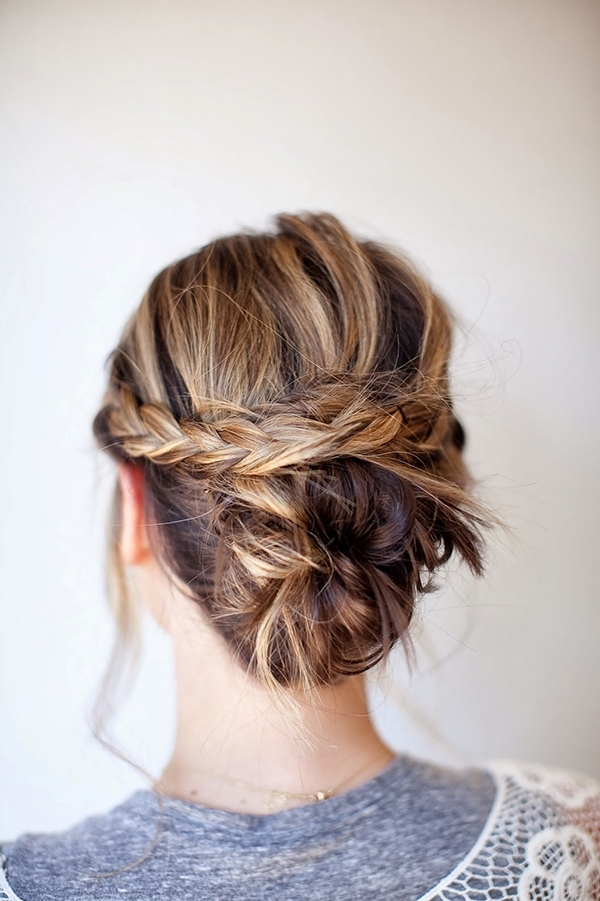 18 Easy Braided Bun Hairstyles To Try Asap – Gurl | Gurl Intended For Best And Newest Braid And Bun Hairstyles (View 2 of 15)