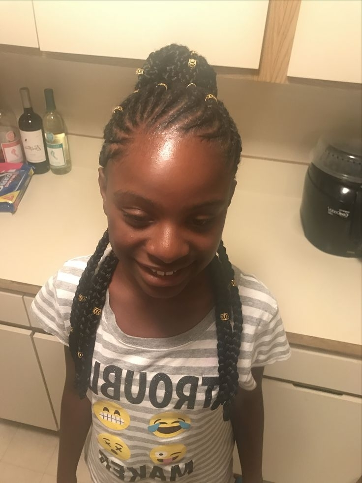 19 Best Braids Images On Pinterest | Braid Hairstyles, Braids And In Most Current Nubian Princess Fulani Braid Pullback (View 3 of 15)