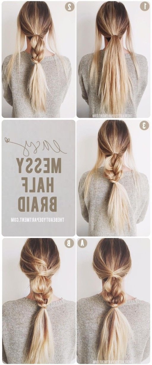 19 Easy Messy Braid Tutorials Anyone Can Do – Gurl | Gurl Inside Most Up To Date Loosely Braided Hairstyles (View 14 of 15)