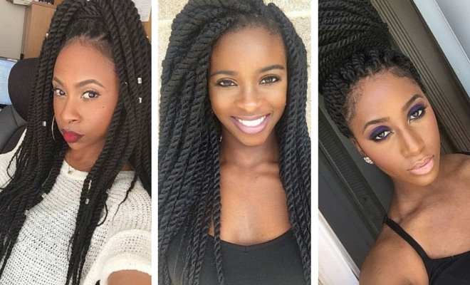 19 Fabulous Kinky Twists Hairstyles | Stayglam With Regard To Most Recent Kinky Braid Hairstyles (View 13 of 15)
