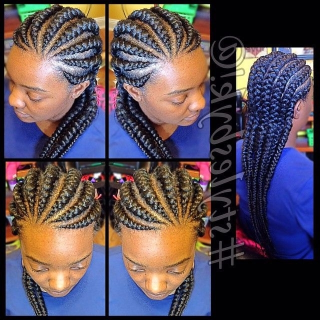 19 More Big Cornrow Styles To Feast Your Eyes On | ??* Braids Throughout Best And Newest Big Cornrows Hairstyles (View 6 of 15)