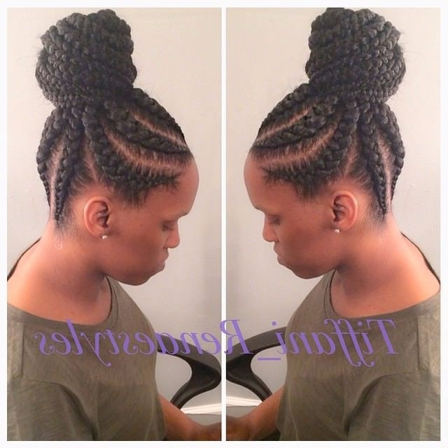 19 More Big Cornrow Styles To Feast Your Eyes On | Haifinityand Intended For Most Recently Big Updo Cornrows Hairstyles (View 2 of 15)