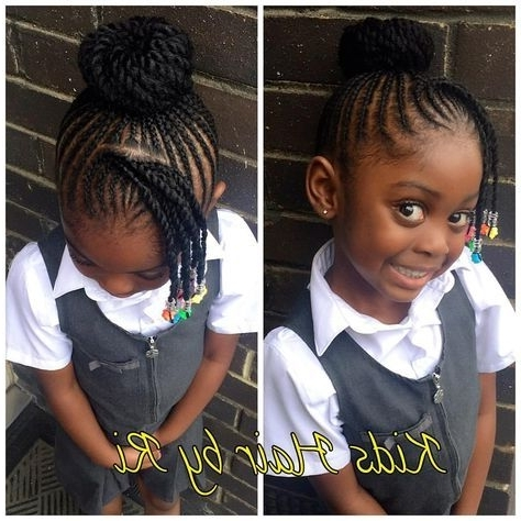 190 Likes, 9 Comments – Kids Hairri (@kidshairbyri) On Instagram For Newest Cornrows Hairstyles For School (View 8 of 15)