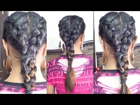 2 Dutch Braids Into 1 Hair Tutorial – Youtube In Best And Newest Two Braids Into One (View 3 of 15)