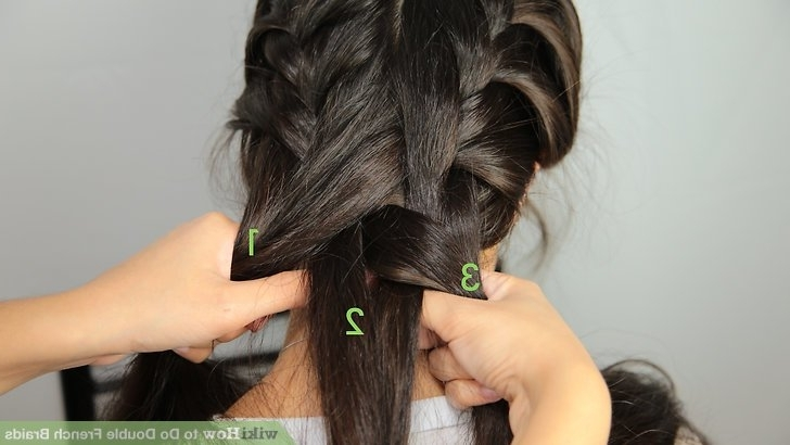 2 Simple Ways To Do Double French Braids – Wikihow Within Most Up To Date Loose Hair With Double French Braids (View 7 of 15)