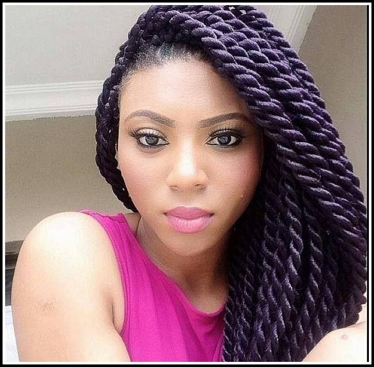 20 Amazing And Artistic Braided Hairstyles Ideas For Black Girl With Latest Half Updo With Long Freely Hanging Braids (View 5 of 15)