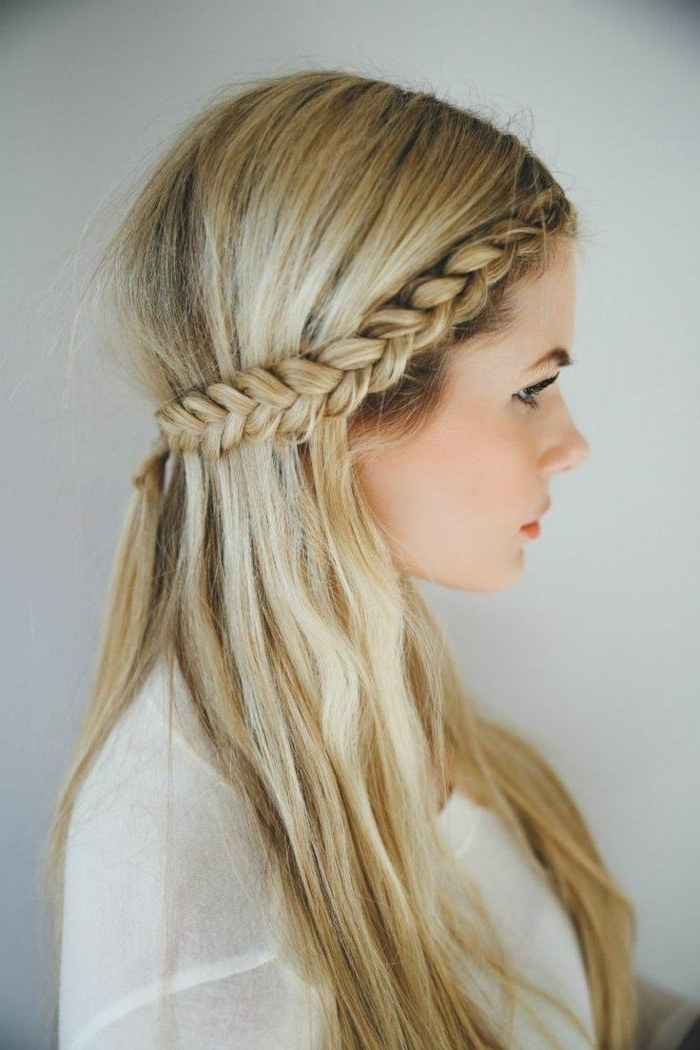 20 Awesome Half Up Half Down Wedding Hairstyle Ideas Within Most Recent Half Updo Braids Hairstyles With Accessory (View 6 of 15)