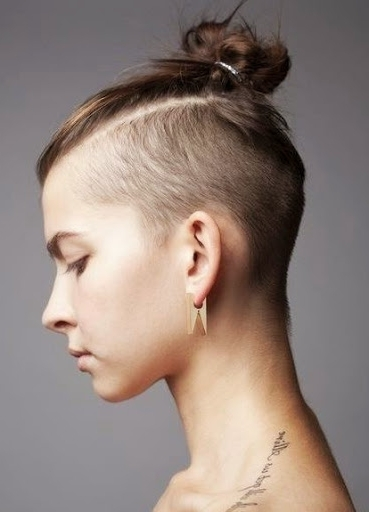 20 Awesome Undercut Hairstyles For Women Intended For Newest Double Bun Mohawk With Undercuts (View 4 of 15)