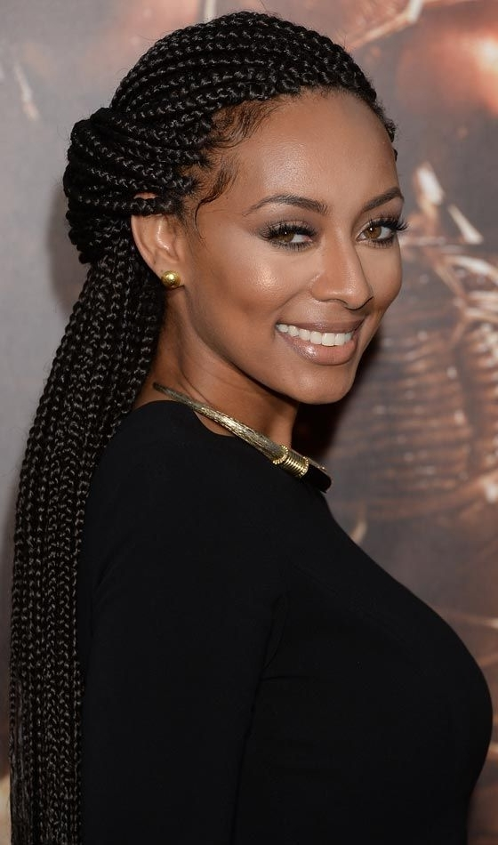 20 Beautiful Braided Updos For Black Women | Braids | Pinterest With Regard To Most Current Half Updo With Long Freely Hanging Braids (View 4 of 15)