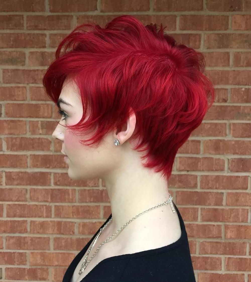20 Bright Red Hairstyles That Sizzle | Pinterest | Red Pixie, Pixie In 2018 Long Red Pixie Haircuts (View 14 of 15)